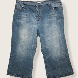 VTG Carolina Blues Capris Jeans Light Denim 28W